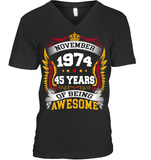 November 1974 45 Years Of Being Awesome New Design for 2019 T Shirts