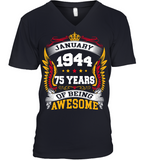 January 1944 75 Years Of Being Awesome New Design for 2019 T Shirts