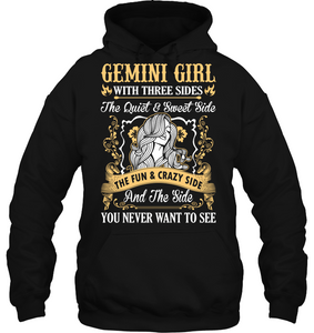 Gemini Girl With Three Sides The Fun And Crazy Side T Shirts