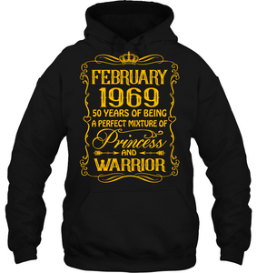 February 1969 50 Years Being A Perfect Mixture Princess T Shirts