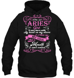 Aries Girl Born With My Heart On My Sleeve T Shirts