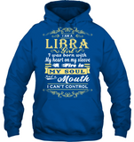Libra Girl I Was Born With My Heart On My Sleeve T Shirts