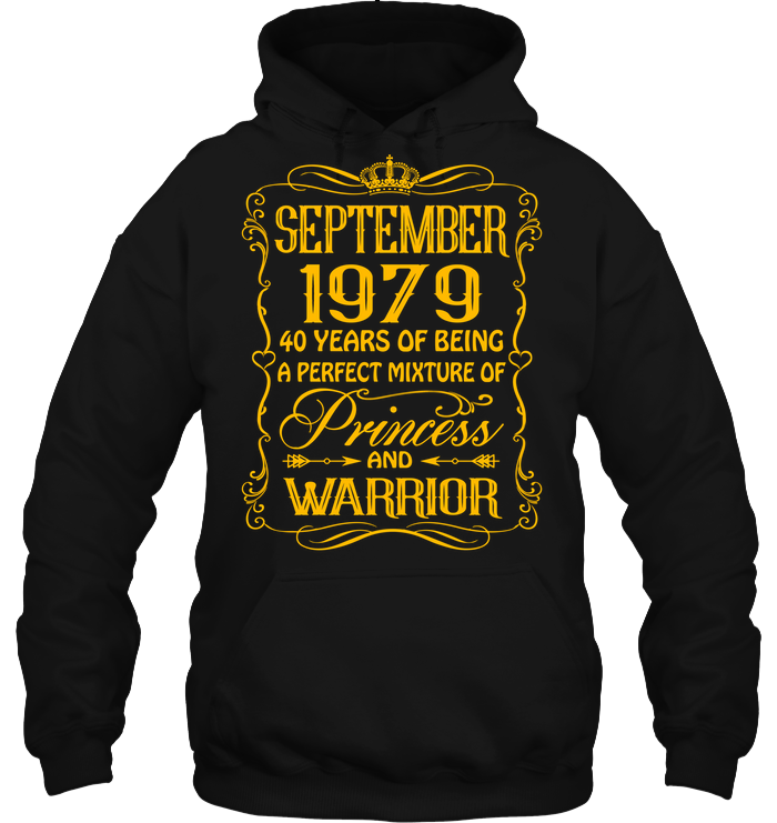September 1979 40 Years Being A Perfect Mixture Princess T Shirts