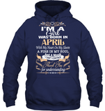 Born In I am a Girl was born in April T Shirts