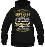 November Girl I Was Born With My Heart On My Sleeve T Shirts