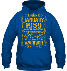 January 1959 60 Years Being A Perfect Mixture Princess T Shirts