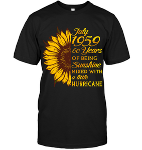 July 1959 60 Years Of Being Awesome Sunflower 2019 T Shirts