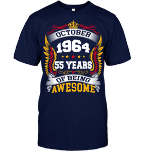 October 1964 55 Years Of Being Awesome New Design for 2019 T Shirts