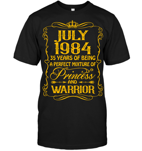 July 1984 35 Years Being A Perfect Mixture Princess T Shirts