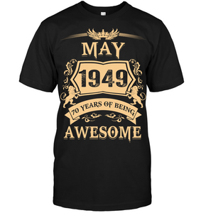 May 1949 70 Years Of Being Awesome Lion 2019 T Shirts
