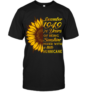 December 1949 70 Years Of Being Awesome Sunflower 2019 T Shirts