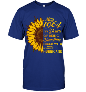 May 1964 55 Years Of Being Awesome Sunflower 2019 T Shirts