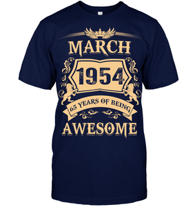March 1954 65 Years Of Being Awesome Lion 2019 T Shirts