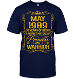 May 1989 30 Years Being A Perfect Mixture Princess T Shirts