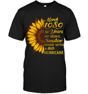 March 1989 30 Years Of Being Awesome Sunflower 2019 T Shirts