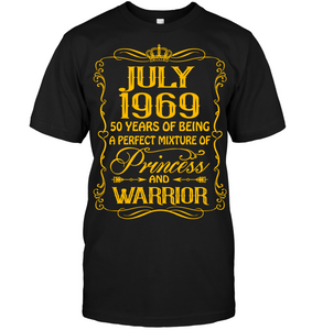 July 1969 50 Years Being A Perfect Mixture Princess T Shirts