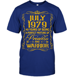 July 1979 40 Years Being A Perfect Mixture Princess T Shirts