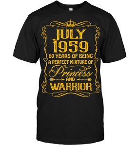 July 1959 60 Years Being A Perfect Mixture Princess T Shirts