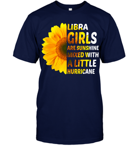 Libra Girls Are Sunshine With A Little Hurricane T Shirts