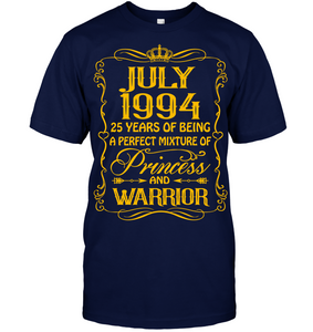 July 1994 25 Years Being A Perfect Mixture Princess T Shirts