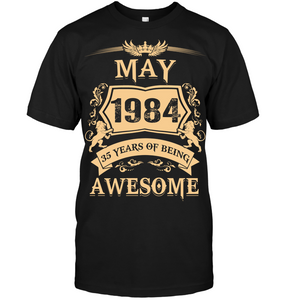 May 1984 35 Years Of Being Awesome Lion 2019 T Shirts