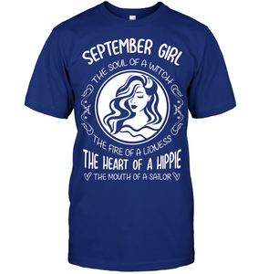 September Girl The Soul Of A Witch The Fire Of A Lioness T Shirts
