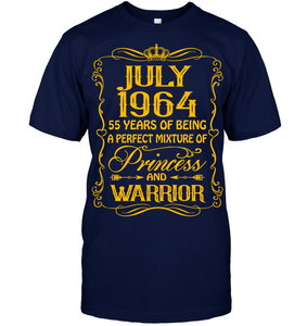 July 1964 55 Years Being A Perfect Mixture Princess T Shirts