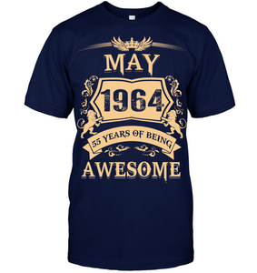 May 1964 55 Years Of Being Awesome Lion 2019 T Shirts