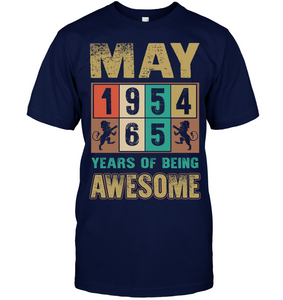 May 1954 65 Years Of Being Awesome T Shirts