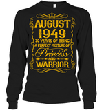 August 1949 70 Years Being A Perfect Mixture Princess T Shirts