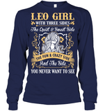 Leo Girl With Three Sides The Fun And Crazy Side T Shirts