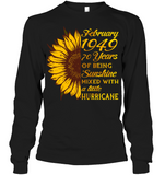 February 1949 70 Years Of Being Awesome Sunflower 2019 T Shirts