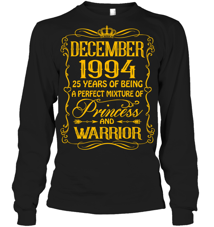 December 1994 25 Years Being A Perfect Mixture Princess T Shirts