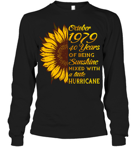 October 1979 40 Years Of Being Awesome Sunflower 2019 T Shirts