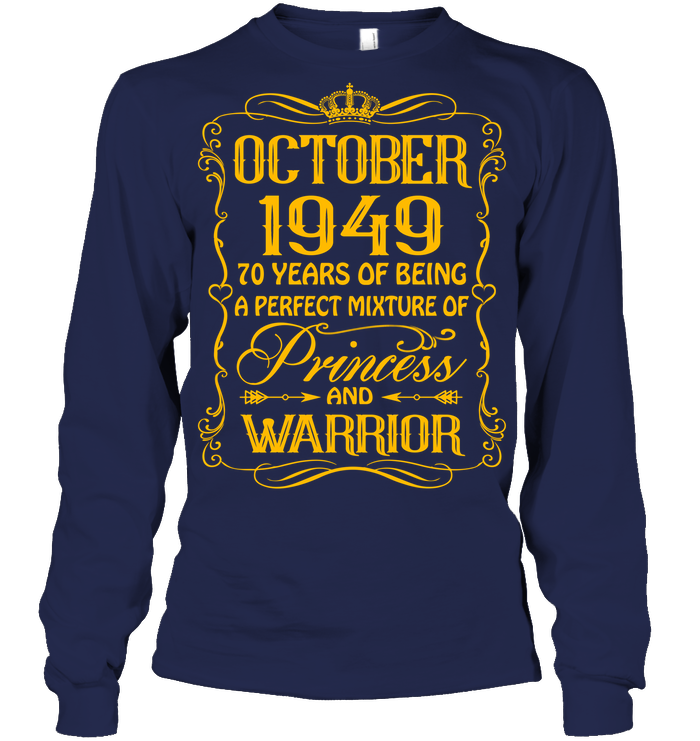 October 1949 70 Years Being A Perfect Mixture Princess T Shirts