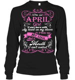 April Girl Born With My Heart On My Sleeve T Shirts