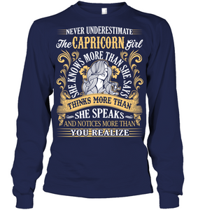 Never Underestimate The Capricorn Girl T Shirts