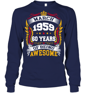 March 1959 60 Years Of Being Awesome New Design for 2019 T Shirts