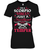 Scorpio Woman Just A Sweetheart T Shirts