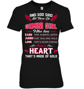 And God Said Let There Be Gemini Girl T Shirts