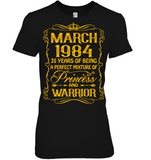 March 1984 35 Years Being A Perfect Mixture Princess T Shirts