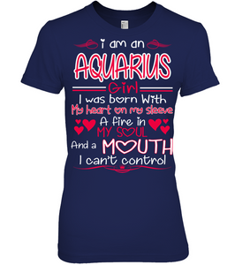 I Am A Aquarius Girl My Heart On My Sleeve T Shirts