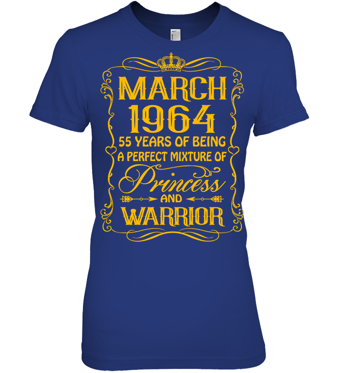 March 1964 55 Years Being A Perfect Mixture Princess T Shirts