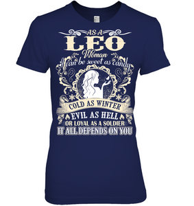 Leo Woman I Can Be Sweet As Candy T Shirts