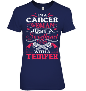Cancer Woman Just A Sweetheart T Shirts