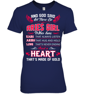 And God Said Let There Be Aries Girl T Shirts