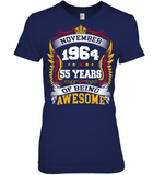 November 1964 55 Years Of Being Awesome New Design for 2019 T Shirts
