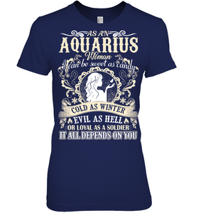 Aquarius Woman I Can Be Sweet As Candy T Shirts