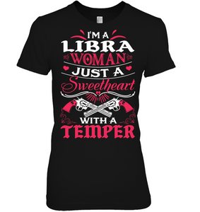 Libra Woman Just A Sweetheart T Shirts