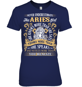 Never Underestimate The Aries Girl T Shirts
